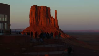 Tourists At Overlook Monument Valley