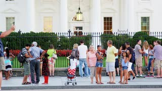 Tourists Outside White House Gate