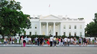Tourists Outside White House