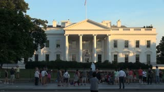 Tourists Standing Outside White House
