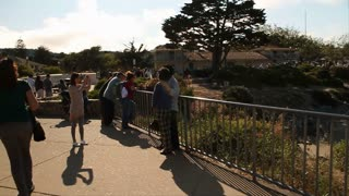 Tourists Take Photos In Monterey California