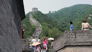 Tourists Walking Great Wall of China