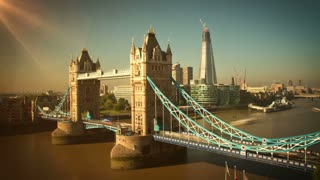 Tower Bridge in London Time Lapse