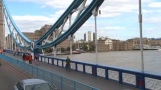 Tower Bridge Walkway From Bus