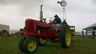 Tractor Tows People On Hayride