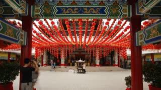 Traditional Thean Hou Chinese Temple, Kuala Lumpur, Malaysia, Southeast Asia, Asia, Time lapse