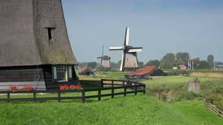 Traditional windmill at Schermerhorn, North Holland, Netherlands, Europe
