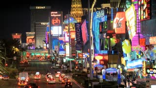 Traffic and Neon Signs On The Vegas Strip