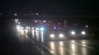 Traffic at night time