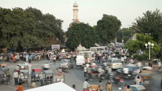 Traffic congestion and street life in the City of Jaipur, Rajasthan, India