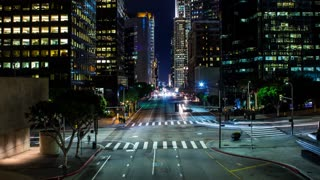 Traffic Intersection Timelapse in Downtown Los Angeles