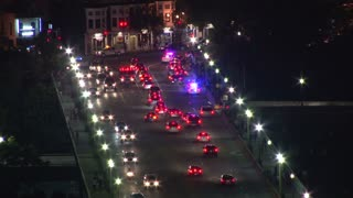 Traffic Jam on Key Bridge After DC Firework Show