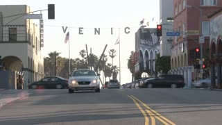 Traffic Light In Venice Timelapse