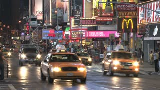 Traffic on Busy Times Square Street 2