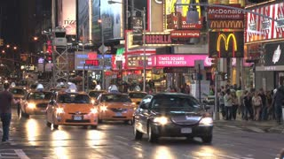 Traffic on Busy Times Square Street