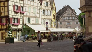 Traffic on Colmar Alsace France Street