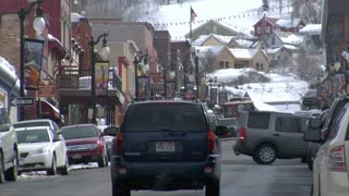 Traffic On Main St, Park City Utah