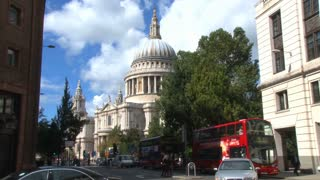 Traffic Passing St Pauls Cathedral