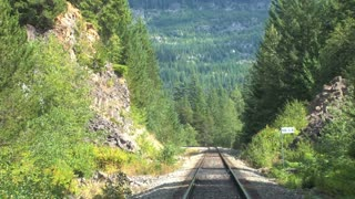 Train Tracks Through Mountains