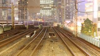 Trains in Tokyo Japan