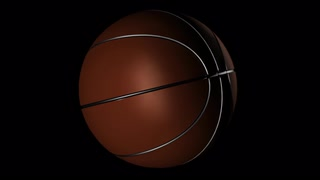 Transparent Basketball Alpha Channel Loop