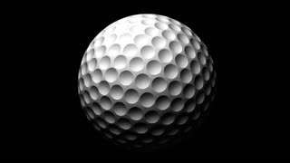 Transparent Golf Ball Alpha Channel Loop