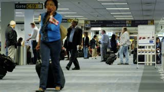 Travelers Heading To Terminal