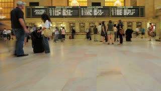Travelling People In Grand Central Station