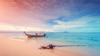 Tropical Thailand island. 4k, 24fps