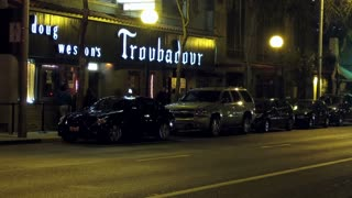Troubadour Tavern West Hollywood Timelapse. Time lapse shot of the famous Troubadour music venue in West Hollywood, California.