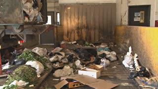 Truck Dumping Garbage