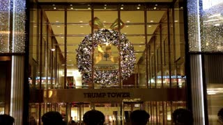 Trump Tower Christmas Wreath