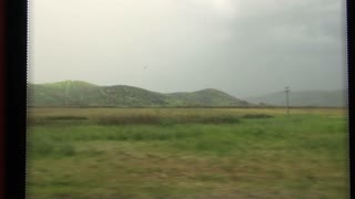 Turkish Countryside Out Train Window 1