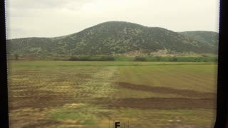 Turkish Countryside Out Train Window 3