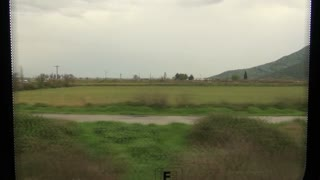 Turkish Countryside Out Train Window 4