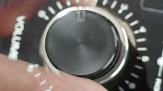Turning Volume Knob