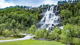 Tvindefossen waterfall , Norway