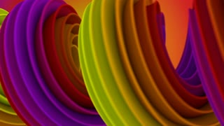 Twisted 3D shape spinning seamless loop 4k UHD (3840x2160)