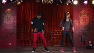 Two Hip-Hop Dancers in Slow Motion