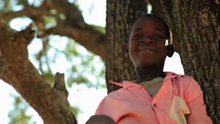 Two Kids in a Tree in Kenya