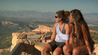 Two Women At Rim Overlook Bryce Canyon National Park