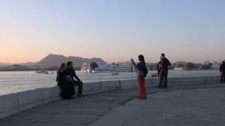 Udaipur Island Palace Tourists 2