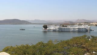 Udaipur Lake Palace view with trees