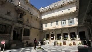 Udaipur Palace Courtyard 4