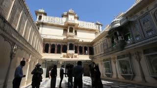 Udaipur Palace Courtyard