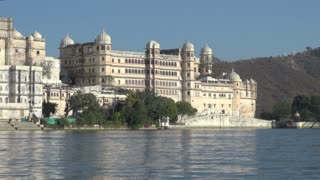 Udaipur Palace View From Lake Pichola
