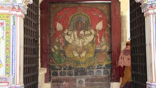 Udaipur Zenana Mahal Elephant Painting