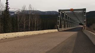 UHaul Truck Heading South Over Stikine River Bridge