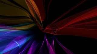 Ultra Modern Colorful Ribbon Tunnel Loop Background