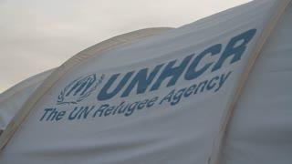 Un Refugee Tent Logo
